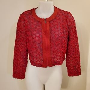 Vintage Piccadilly Red Bolero Jacket Large